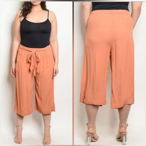💥On Sale💥Tangerine Plus Size Cropped Trousers